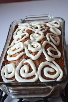 Maple Cinnamon Bun Quick Bread ~ Super moist, with cinnamon/buttery goodness it really does taste like  a cinnamon bun!