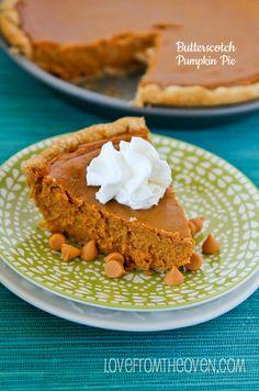 Butterscotch Pumpkin Pie Recipe
