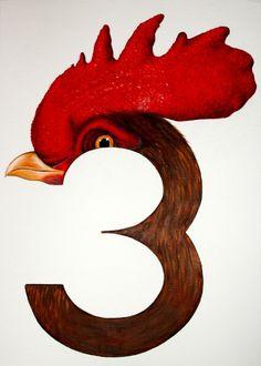 3 #illustration #typography #numeral