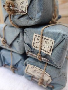 gift, vintage labels, paper, denim, candy canes, soap packaging, handmade soaps, bohemian, blues
