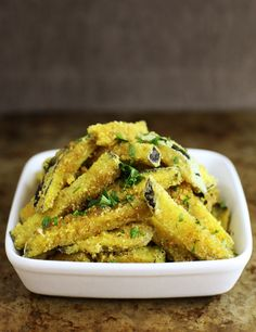 For a special treat, serve these crispy curry eggplant fries as an appetizer or side dish.