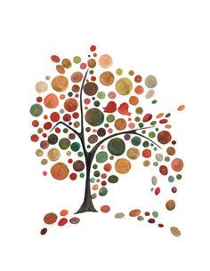 tree craft, art prints, wall posters, fall autumn, paint, tree art, fall trees, autumn color, birds