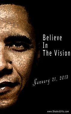 Count Down To #Inauguration Day!! #Obama #Barack #ShadesofColor    www.ShadesGifts.com obama barack, presid obama, obama art
