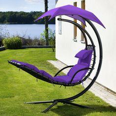 purple lounge swing