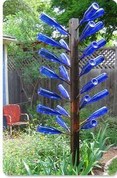 I love the look of the bottle tree!
