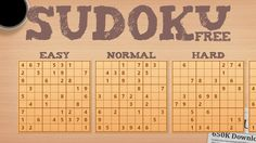 Sudoku Free // Play standard 9x9 grid Sudoku puzzles. Exercise your visual scanning and processing powers and strengthen your brain. With three difficulty levels, intuitive metro-styled interface, and all the functions right at your fingertips, this Sudoku game is sure to be your favorite.