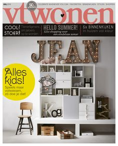 Styling: Cleo Scheulderman photo: Alexander van Berge #vtwonen #cover july 2014 #magazine #interior #kids