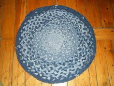 50 Creative and Cool Ways To Reuse Old Denim (50) 19 - CrookedBrains.net rag rugs, braid denim, recycle jeans, quilt, recycling, braided rug, recycled denim, blues, old jeans