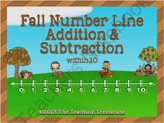 Fall Number Line Addition & Subtraction Giveaway! Enter for your chance to win 1 of 3.  Fall Number Line Addition & Subtraction Within 10 (12 pages) from The Teaching Treehouse on TeachersNotebook.com (Ends on on 9-27-2014)  Adding and subtracting with Fall number line fun! Addition and subtraction within 10. 6 pages of addition practice, and 6 pages of subtraction practice. 6 problems per page. Color and black & white copies included. Aligned to CCSS.  More Fall theme products ...