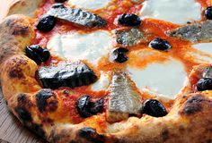 """hum...""Smoked Trout Pizza with Olives  (I just thought this was interesting!) yek"