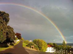 Rainbow over Mackinac Island, MI