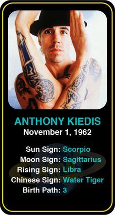 Celeb #Scorpio birthdays: Anthony Kiedis' astrology info! Sign up here to see more: https://www.astroconnects.com/galleries/celeb-birthday-gallery/scorpio?start=30  #astrology #horoscope #zodiac #birthchart #natalchart #anthonykiedis #rhcp