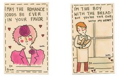 Hilarious. Hunger Games Inspired love cards.