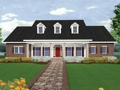 Country House Plan with 2669 Square Feet and 4 Bedrooms(s) from Dream Home Source | House Plan Code DHSW18680