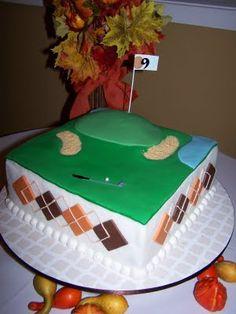 golf cakes, groom cake, birthday cake, parti