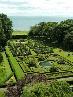 Gardens at Dunrobin Castle, Scotland