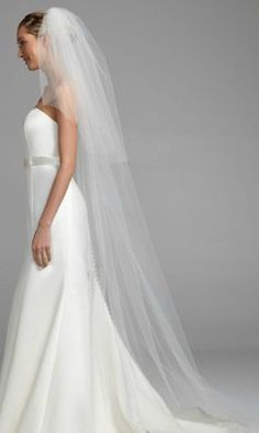 This cathedral length #veil adds a small hint of sparkle with its floral and crystal design, perfect for your special day. Style V507. #davidsbridal #weddings #aislestyle Enter the Aisle Style Sweeps for a chance to win up to $3,000 in gift certificates from David's Bridal & @Helzberg Diamonds Diamonds! Enter now thru 9/2: http://sweeps.piqora.com/aislestyle Rules: http://sweeps.piqora.com/contests/contest/content/davidsbridal.com/310/rules