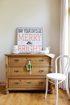 Merry & Bright Christmas sign by BetweenYouAndMeSigns on Etsy