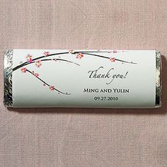 cherry blossom chocolate bars, as low as $1.58, cherry blossom wedding favors, cherry blossom wedding decorations, wedding candy buffet