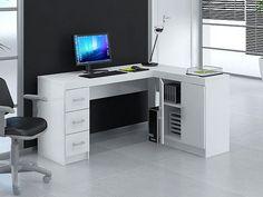 Mesa para Computador/Escrivaninha Kit Espanha 2 Portas 3 Gavetas - Politorno - Mesas Computador/Escrivaninha ‹ Magazine Luiza