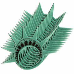 statue of liberty, parti sport, daniel parti, crown hat, liberti parti, parti idea, foam crown