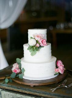 Wedding Cake on #SMP: http://www.StyleMePretty.com/little-black-book-blog/2014/03/27/rustic-petaluma-barn-wedding/ TanjaLippertPhotography.com