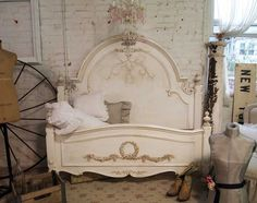 Painted Cottage Shabby Tea Stained Romance Bed on Etsy