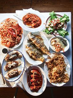Feast of the Seven Fishes, an Italian Christmas Eve tradition.