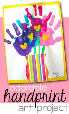 Handprint Bouquet… perfect for Mother's Day!