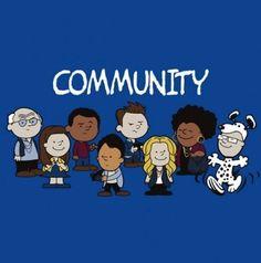 """community"" cast as peanuts!"