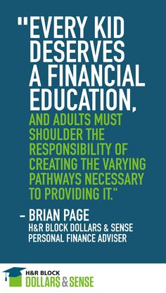 Meet Brian Page, Teacher and H&R Block Dollars & Sense Personal Finance Adviser #education #personalfinance #highschool