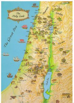 Israel map The Holy Land