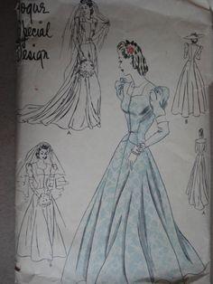 Vogue Special Design Vogue S-4205, Wedding Dress, late 30s?
