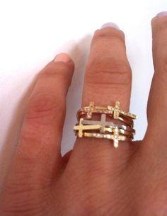 bling, fashion, style, cloth, accessori, closet, cross rings, crosses, jewelri