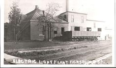 Vicksburg (Michigan) once generated its own electricity. Vicksburg Historical Society collection. Follow us on facebook.