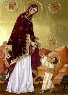 Icono de la Virgen y el Niño.