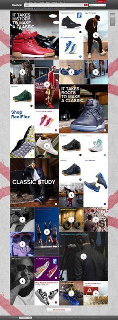 Reebok #design #web #webdesign #layout #e-commerce #commerce #ecommerce #shop #online #e-shop #store #fashion #clothing #clothes #shoe #shoes