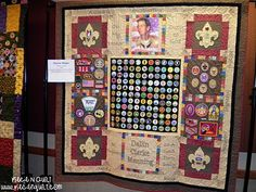 Piece N Quilt: Boy Scouts of America Quilt Display 2 america quilt, cub scout, boy scout, scout idea, eagle scout, eagl scout, boy quilts, quilt display, scout quilt