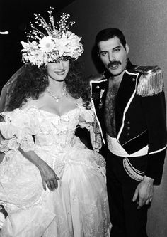 Jane Seymour & Freddie Mercury.