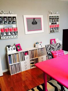 #papercraft #Craftroom - Scrapping with pink!