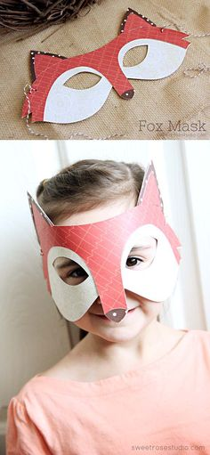 What Does the Fox Say Fox Mask made with Cricut Explore -- Sweet Rose Studio. #DesignSpaceStar Round 3