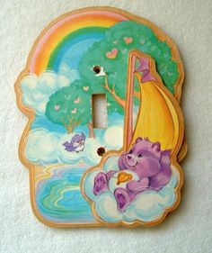 Care Bears vintage light switch cover
