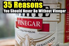 35 Reasons You Should Never Be Without Vinegar - SHTF Preparedness