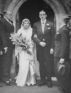 Lady May Cambridge & Captain Henry Abel Smith, October 1931