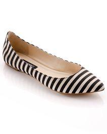 Black & White Stripe Flats.