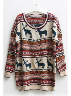 Nordic+Stripes+Print+Oversized+Sweater,++Sweater,+Nordic+Print+Sweater++Stripes+Print+Sweater,+Chic