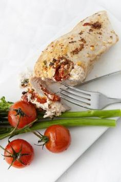 Stuffed Chicken Breast Recipe - Simple stuffed chicken breast from 4 Ingredients  Calories: 374.1 Total Fat: 10.8 g Cholesterol: 168.4 mg Sodium: 691.0 mg Total Carbs: 5.8 g Dietary Fiber: 0.9 g Protein: 60.8 g