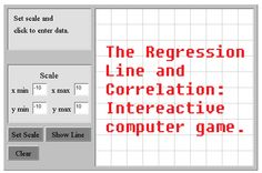 The Regression Line and Correlation: Interactive computer-based tools provide students with the opportunity to easily investigate the relationship between a set of data points and a curve used to fit the data points. As students work with bivariate data in grades 9-12, they will be able to investigate relationships between the variables using linear, exponential, power, logarithmic, and other functions for curve fitting.
