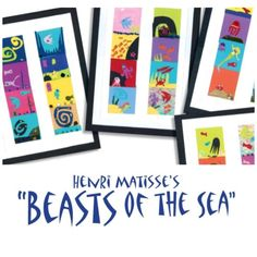 "Did you know that today, June 8, is National Oceans Day, and June is National Oceans Month? Celebrate in the art room with ""Henri Matisse's 'Beasts of the Sea,'"" from our June 2010 issue. henri matisse, sea theme, matiss beast"