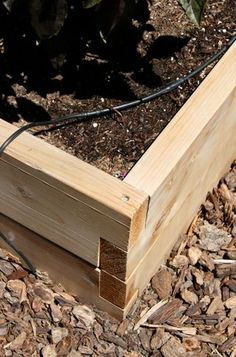 Easy raised bed construction